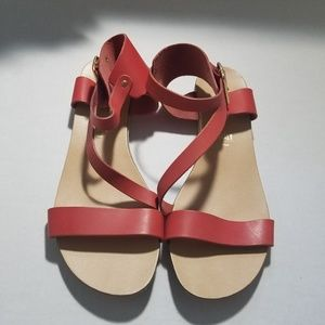 NWOB Seychelles Red Leather Sandals